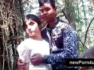 Indian mms desi boy cute girlfriend's boob press at park