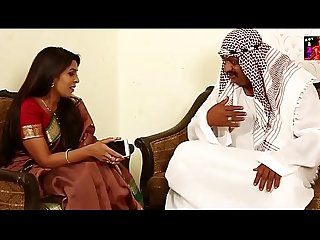 Arab Sheikh kissing pressing boobs
